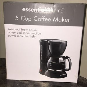 Essential Home 5 cup coffee maker